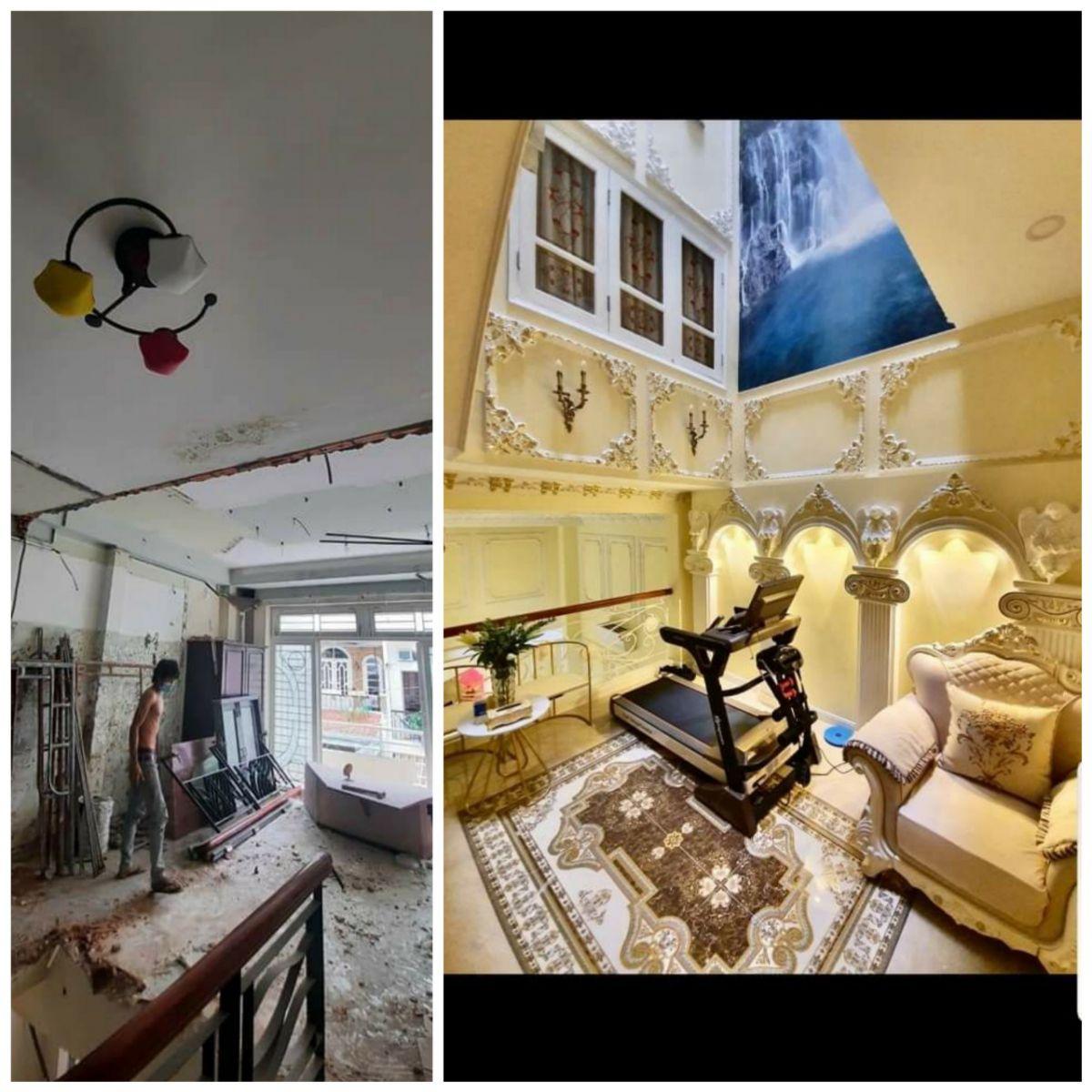 cải tạo phòng khách kiểu cổ điển