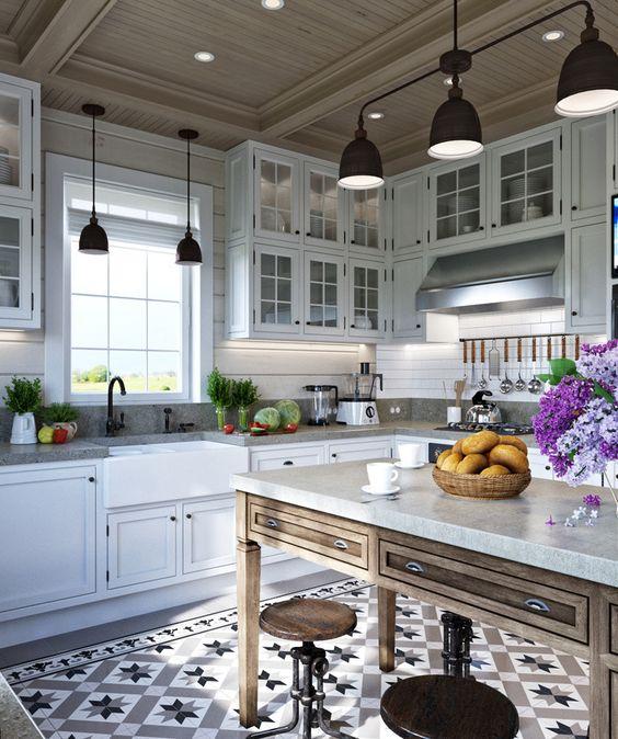 mẫu gạch bông ốp nhà bếp