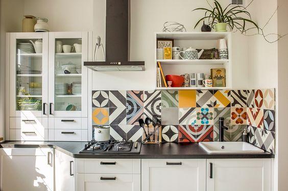những mẫu gạch bông trang trí cho nhà bếp