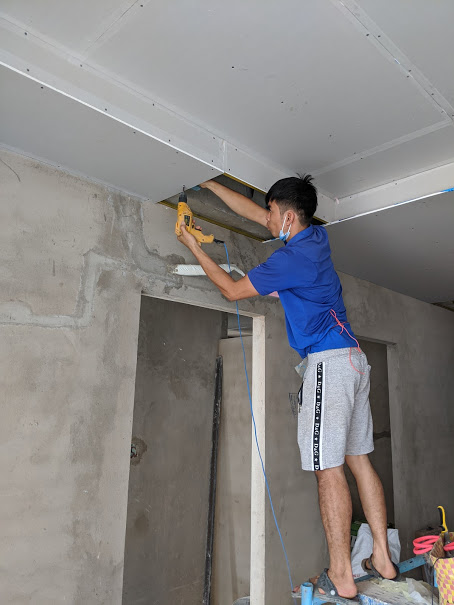 thi công đóng thạch cao trần nhà