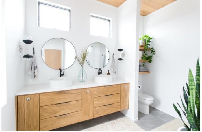 vị trí đẹp cho nội thất trong phòng tắm