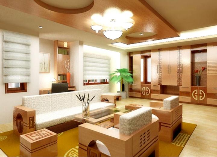Sử dụng nhiều ánh đèn chiếu sáng nhiều góc giúp mở rộng không gian căn phòng