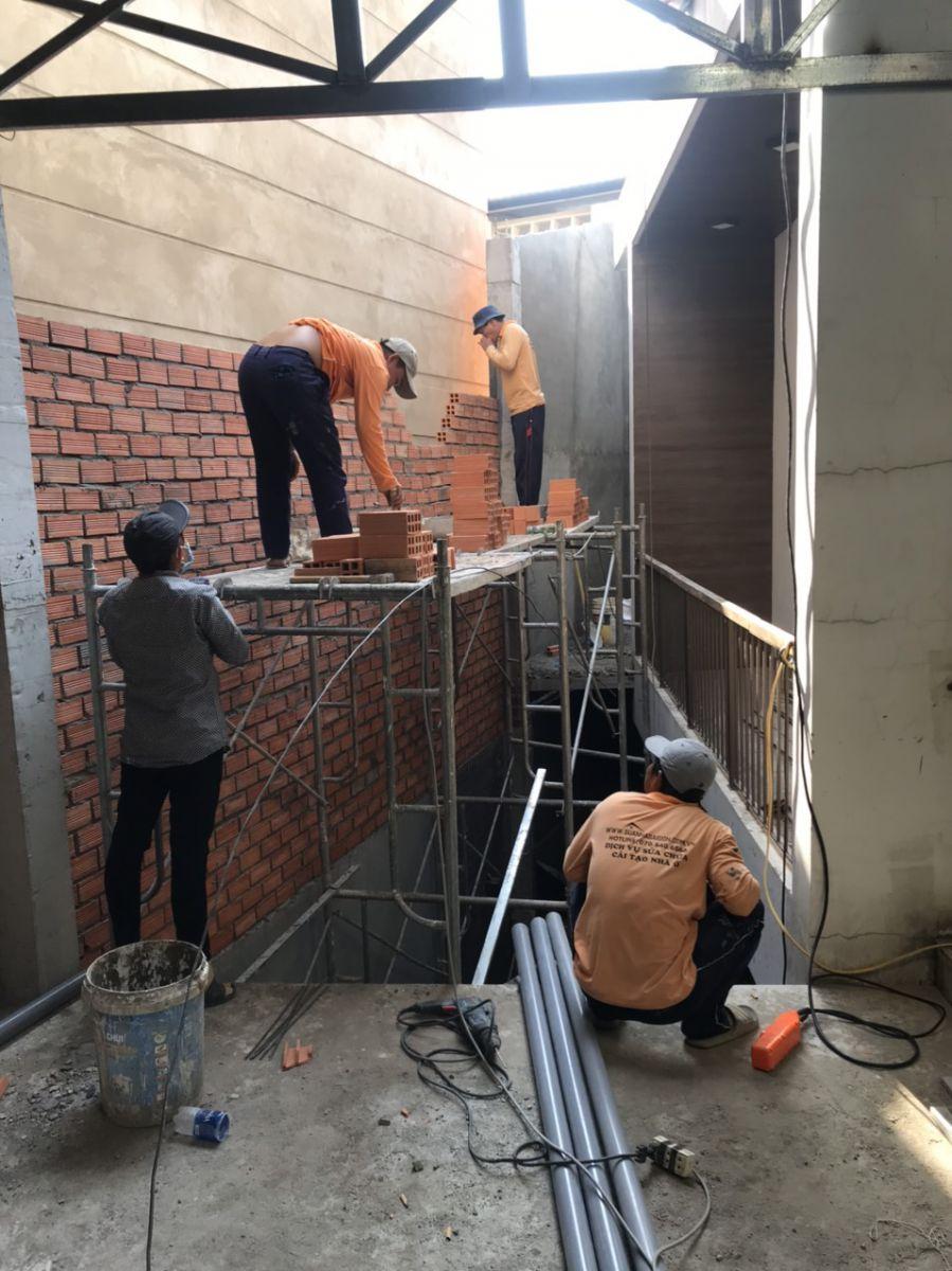 Thi công xây nâng thêm tầng