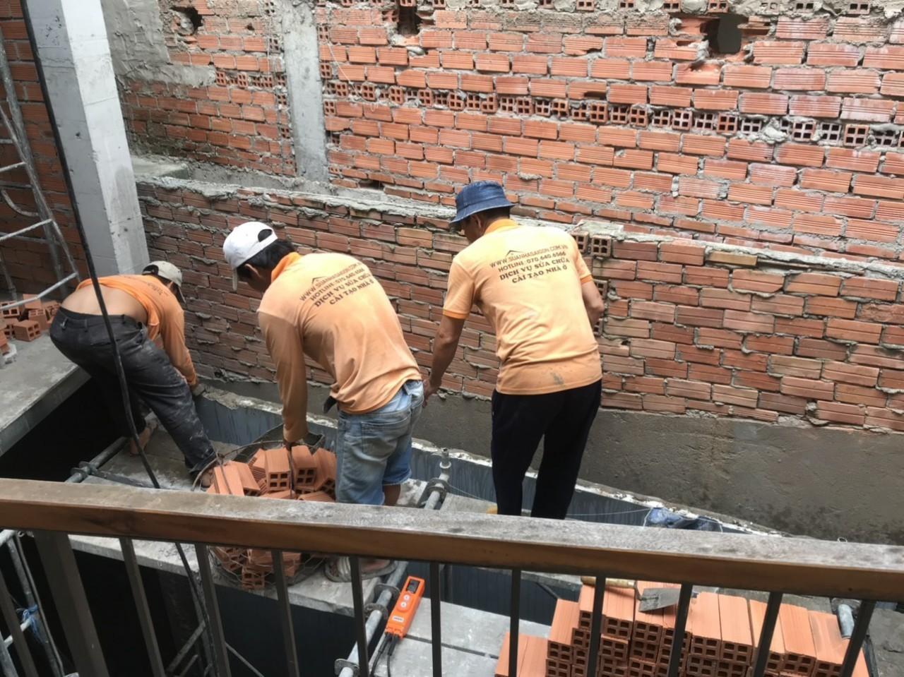 Thi công xây nhà nâng thêm tầng